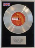 "THE POGUES  - 7"" Platinum Disc - SUMMER IN SIAM"